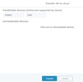 Fig. G GWN7630-Transfer Network  GroupTransfer AP Status Screens lower left part