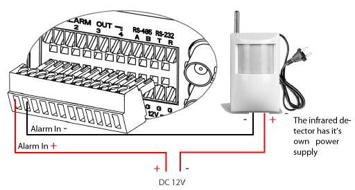 gxv350x alarm-in connection diagram